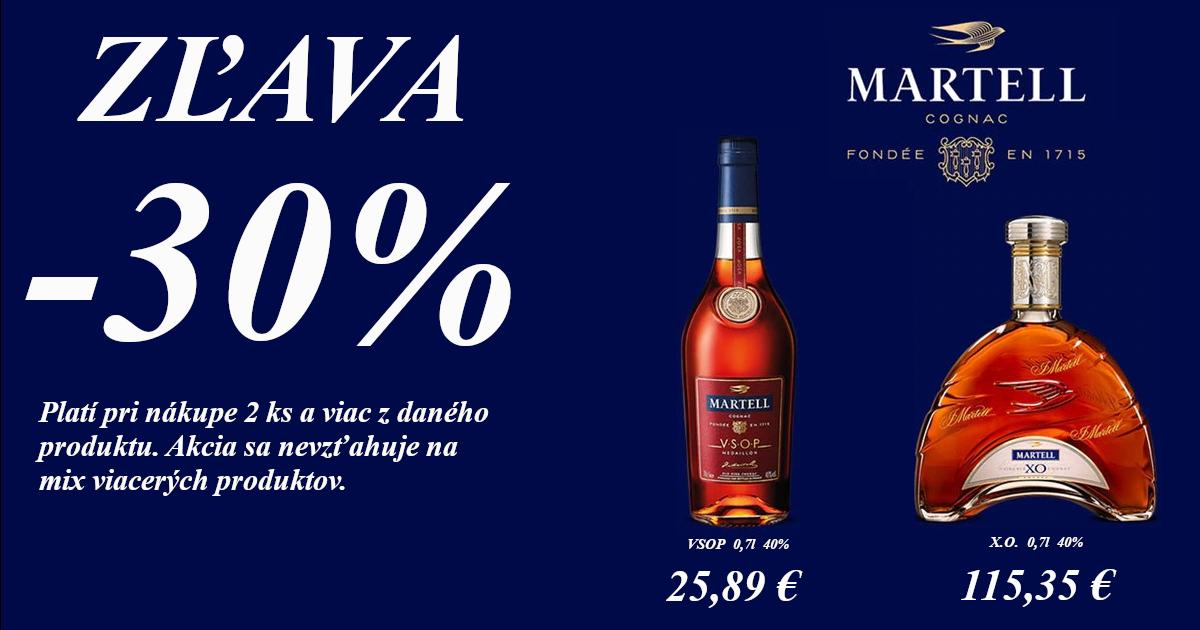 Martell -30% zľava